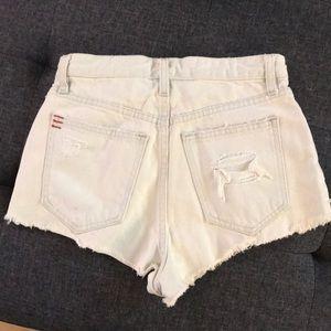 BDG UO denim cut off shorts , off white, size 25